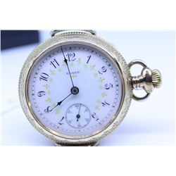 "Elgin ""18"" size pocket watch, 15 jewel, grade 217, model 4, serial #10342799 dates this watch to 190"