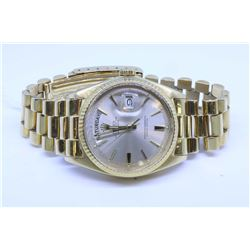 Gent's Rolex 18Kt President Oyster Perpetual Day-date display wrist watch with President regular cla
