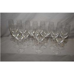 Selection of Rosenthal stemware including sixteen red wine and eight champagne flutes