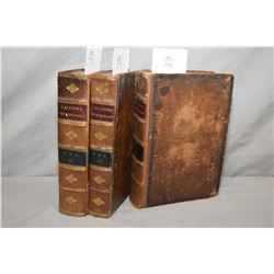 Three antique leather bound volumes including II, III and IV of Lavater's Essays on Physiognomy (for