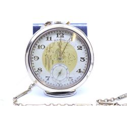 Illinois size 12, 17 jewel pocket watch. Grade 405, model 3, serial #4116149, circa 1922. Nickel bri
