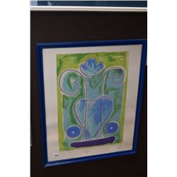 "Framed limited edition print "" Illuminer"" 2001, 1/3, initialled by artist"