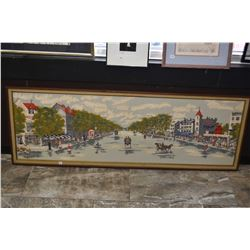 Large framed hand enhanced print titled Moulin Rouge