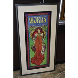 "Framed limited edition print ""For the Works, Art and Design Festival"" 19/100 signed by artist Bob Ma"