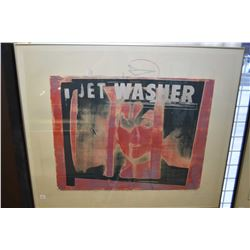 "Framed limited edition print ""For Treason in Time of War- I can seen Mary Magdalen- Jet Washer, Will"
