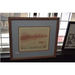 "Framed limited edition print titled ""Tranquility"" signed by artist Sylvia Lange"" 19/70"