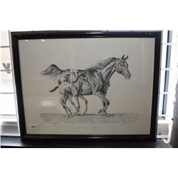 "Framed print titled ""First Time Out"" pencil signed by artist Wendy Pisdale"