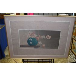 Framed textured still-life print