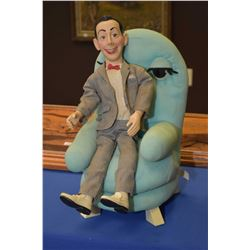 Vintage Pee Wee Herman doll and a chair made by Matchbox Toys