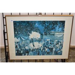 "Framed artist proof print titled ""Bravo!"" pencil signed by artist Toti '91, 28/50"