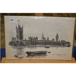 Set of five unframed Ron Marsden prints of London, including Tower Bridge, House of Parliament, West