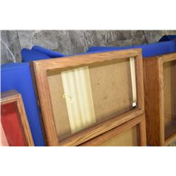 """Oak and glass counter top display cabinet, note no key 24"""" X 15"""""""
