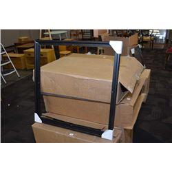 "Box of five brand new black floater frames 24"" X 24"""