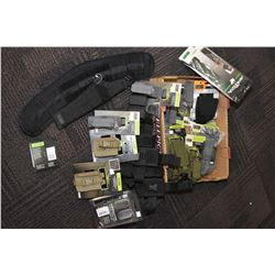 Selection of 511 Tactical gear including C5 cases, mag pouches, cuff cases, VTAC belt plus a nylon h