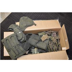 Large selection of used military webbing, assorted products
