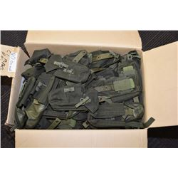 Large selection of new surplus dark green pouches