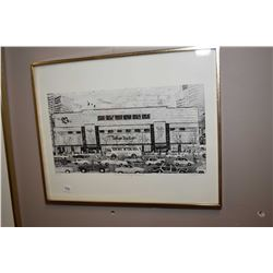 "Framed limited edition print titled ""Hudson's Bay Center"" pencil signed by artist Toti '90, 99/220"