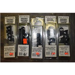 Five new in package Messa Tactical shell carriers including Benelli M-4, Mossberg 930 etc.