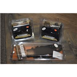 Three new in package Black Hawk left handed holsters including two for Glock 17/19/22/23/31/32 and a