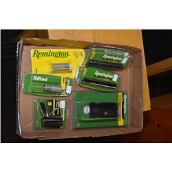 Selection of new in package Remington firearms accessories including four model 597 scope rail mount