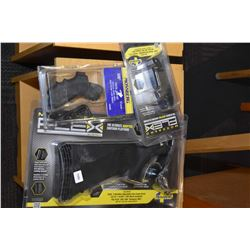 Three new in package Mossberg brand shot gun accessories for model 500 and 590 including no. 95221 f