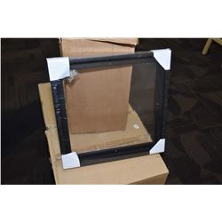 """Ten brand new black floater style picture frames, each measuring 16"""" X 16"""""""
