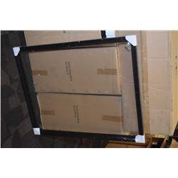 """Box of ten brand new black floater frames 39"""" X 31"""""""