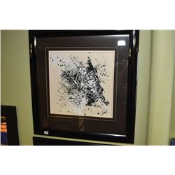 """Framed original abstract painting signed by artist 13"""" X 13"""""""
