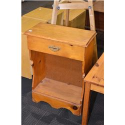 Vintage pine single drawer console table