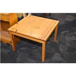 Semi contemporary pine occasional table