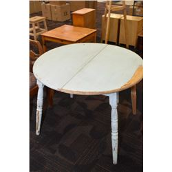 Painted maple round kitchen table