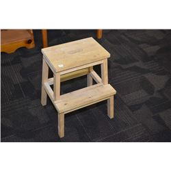 Small step-stool with carry slot