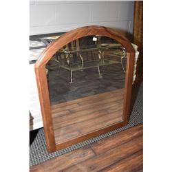 Semi contemporary dresser mirror, note dresser not included