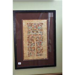 Framed Batik style picture