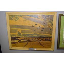 """Two framed prints including """"Prairie Morning"""" original painted for Canadian National Railways by Ill"""