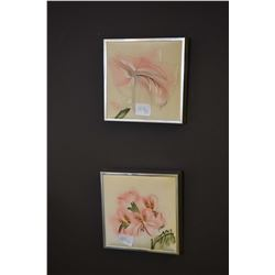 Three original artworks including large still-life featuring figurines signed by artist O.C. Tory (?