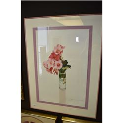 Framed limited edition glamour still-life, pencil signed by artist, dated 1991, 14/194