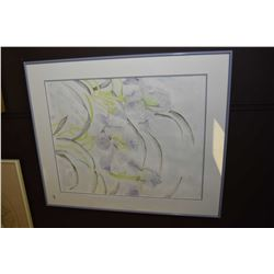 """Framed original watercolour of wild flowers signed by artist 23"""" X 18"""""""