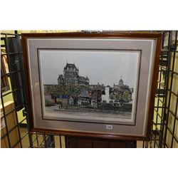 """Two framed prints including one titled """"Place Royale"""" and """"Port Saint-Louis"""" both pencil signed by a"""