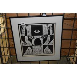 "Framed limited edition print titled ""Goddess"" pencil signed by artist K. Malek '87, 1/5"