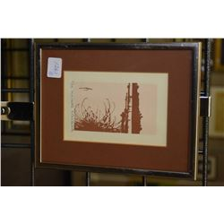 """Five framed artworks including limited edition prints including """"Still Waters"""" pencil signed by arti"""