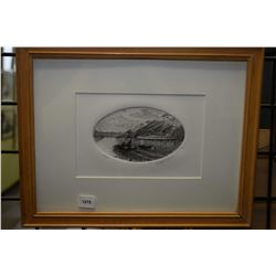 """Framed limited edition print titled """"Inside Passage"""" pencil signed by artist Ronaldo Norden, 92/200"""