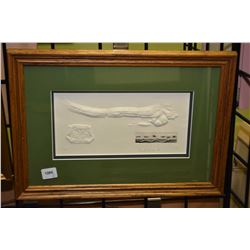 Two framed limited edition prints including Willie Wong block print dated 83, 88/1000 and an embosse