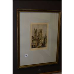 """Two framed artworks including a decorative map """"London, the Bastion of Liberty"""" and a vintage colour"""