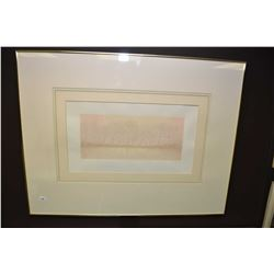 """Framed limited edition embossed print titled """"Poesie D'Hiver"""" pencil signed by artist 80/99"""