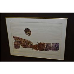 """Two framed artworks including limited edition print titled """"On the Prairie"""" signed by artist Malkiwo"""