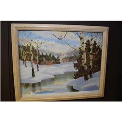 "Two limited edition framed prints including ""Jasper Poplars"" pencil signed by artist Barb Brooks, 32"