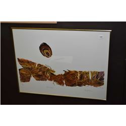 """Framed limited edition print titled """"On the Prairie"""" signed by artist 273/500"""