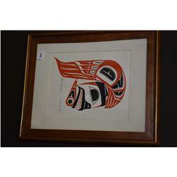 "Framed limited edition print titled ""Hawkman"" pencil signed by artist Robert   Sebastian, '79, 86/10"