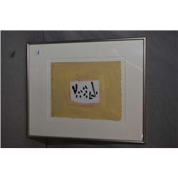"""Framed gouache on paper painting titled on verso """"Mojacar 6, Oct 4, '99 signed by artist Douglas Hay"""